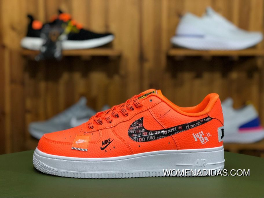 meet 36654 69c79 Nike Air Force 1 Low 07 Premium Just Do It Pack Total Orange AF1 AR7719 800  Total Orange Total Orange-Black-White New Year Deals