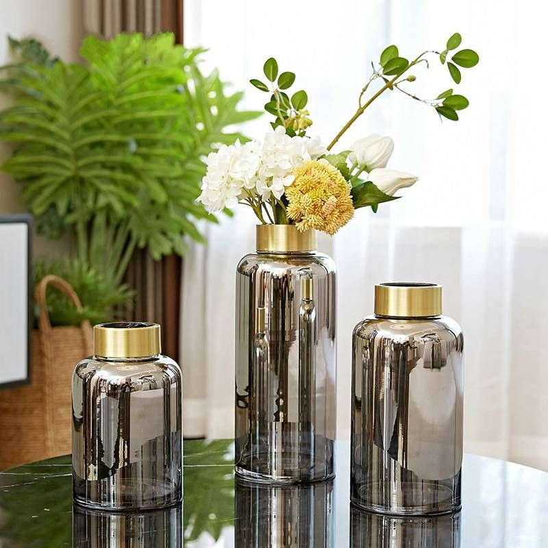 Phnom Penh Glass Vase Decoration Dining Table Home Light Luxury