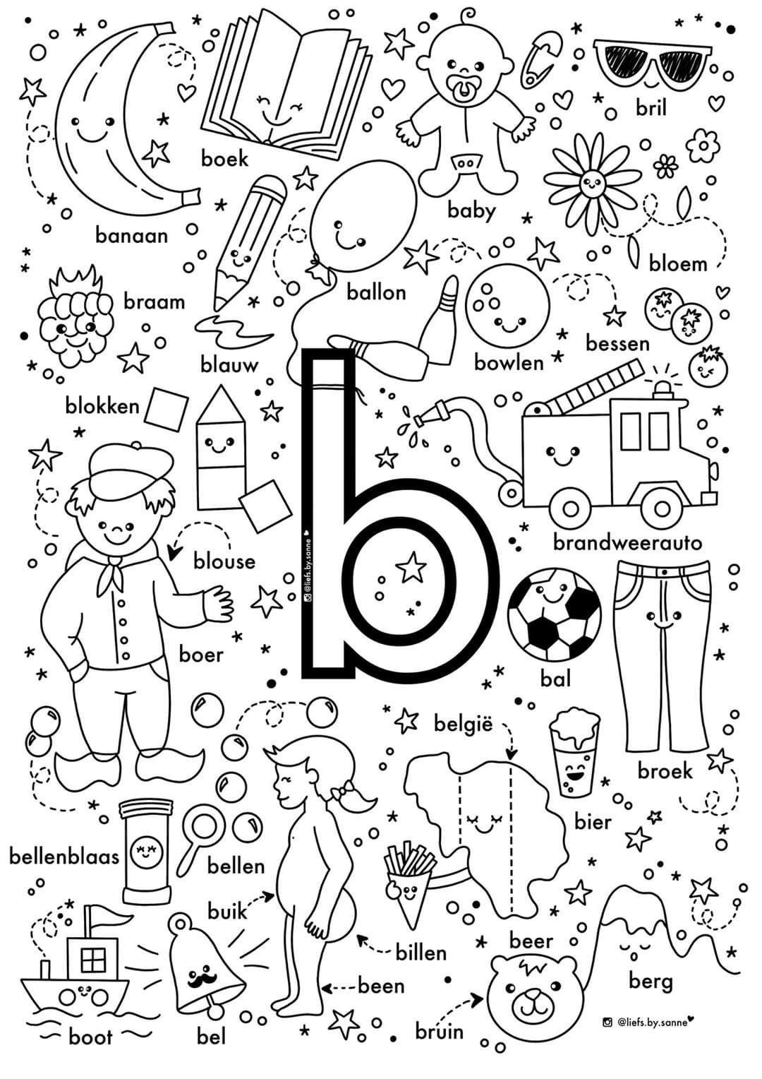 Pin Van Machteld Dietz Op Drawing Letterherkenning Spelletjes Alfabet Boek Alfabet Kleurplaten