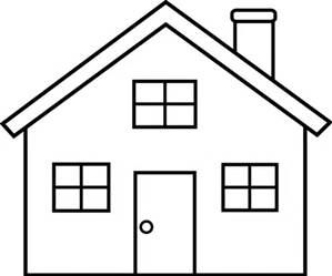 22++ Simple house clipart black and white ideas