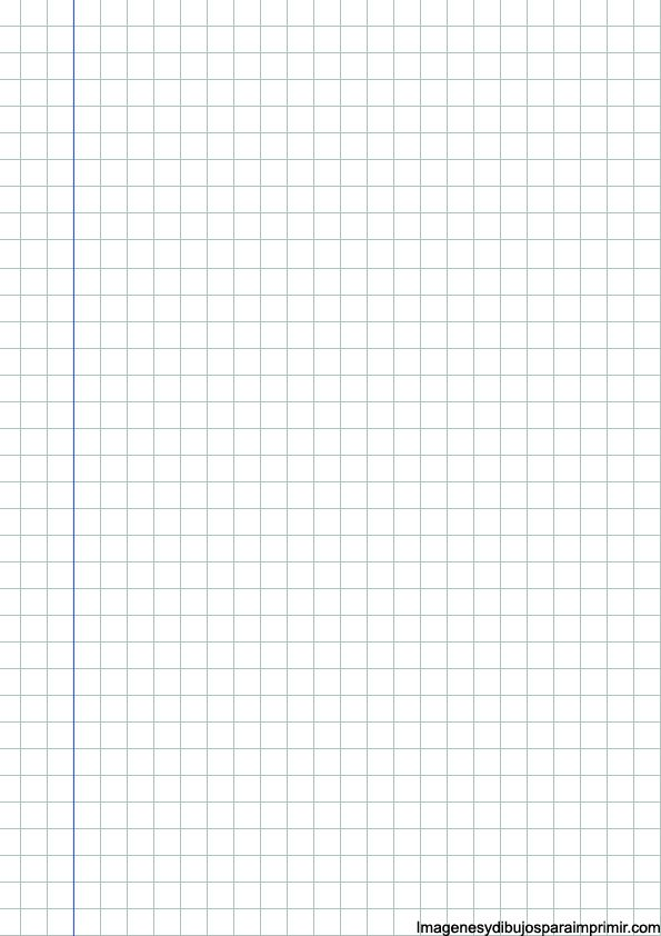 Hoja cuadriculada con margen azul maket Pinterest - isometric graph paper