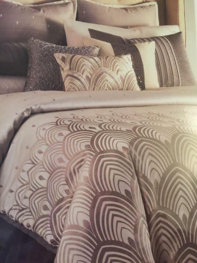 Nwt Jennifer Lopez Gatsby Queen Comforter Set 4pc Art Deco