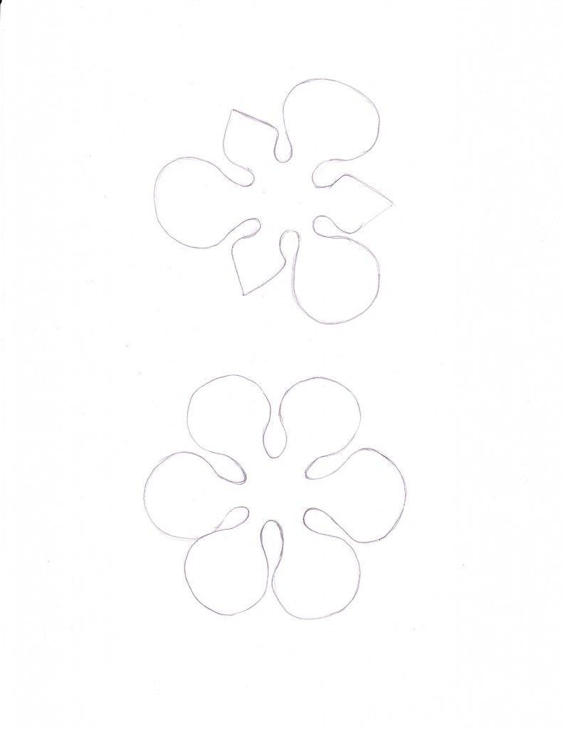 Paper Iris Flower Template Funfndroid