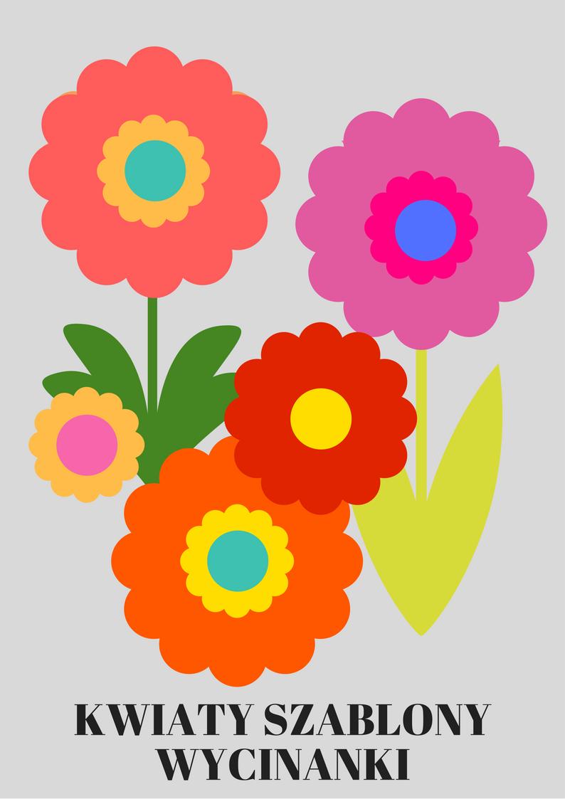 Https Www Kredkauczy Pl Wycinanki I Szablony Gotowe Kwiaty Do Wycinania Uzyjcie W Swoich Wlasnych Plastycznych Projektach