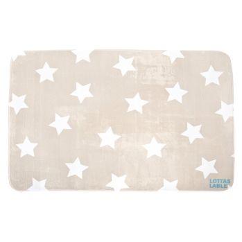 Kinderzimmer sterne beige  Softie-Spielteppich 'Sterne' beige 125x185cm | Kinderzimmer ...