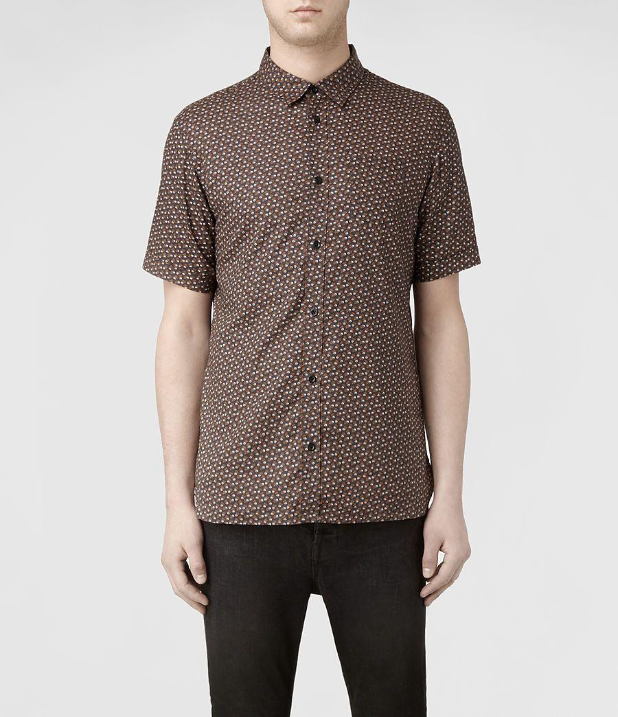 Mens Hibiscus Ss Shirt (Black Base) | ALLSAINTS.com