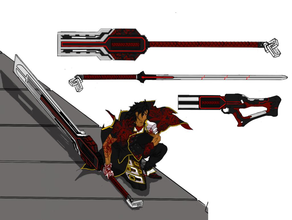 rwby oc Weapon(Regalia) Forms by viantart