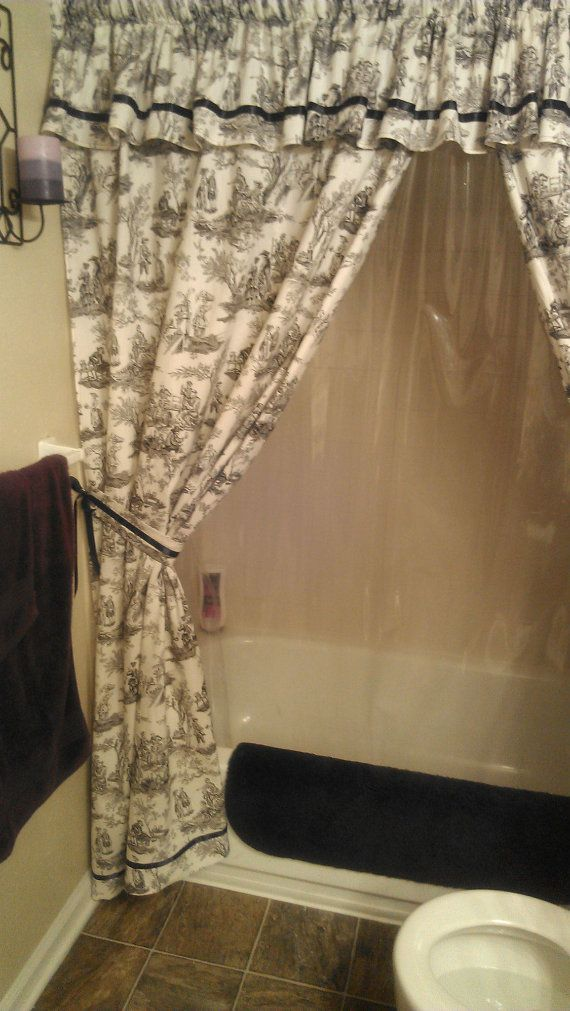 Made To Order Custom Shower Curtain With Valance And By Pixylissa 15000