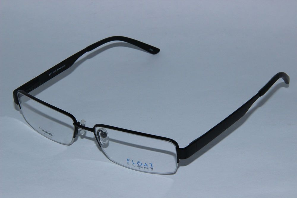 c1b35ae14b8 Float Milan 2717 Mens Eyeglasses Black Titanium Half-Rimless Extra Large  Frame  FloatMilan  Rectangular