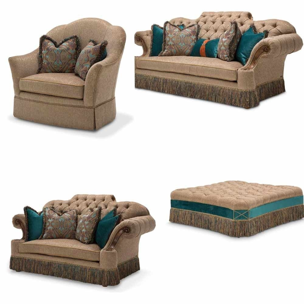 AICO Furniture - Grand Masterpiece 4 Piece Living Room Set - 9050816 ...