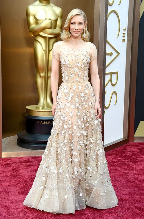 cate blanchett wears armani prive on oscars 2014 red