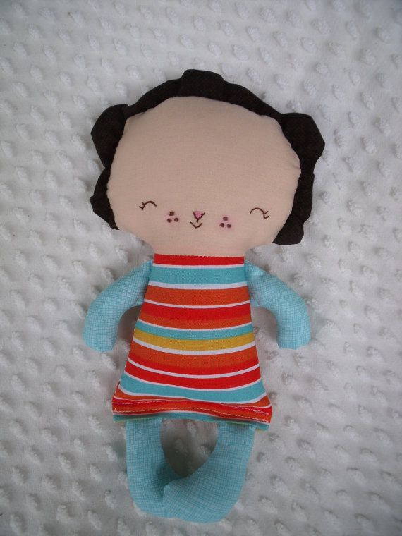 Baby Lion cloth doll created by me using a bit of whimsy pattern