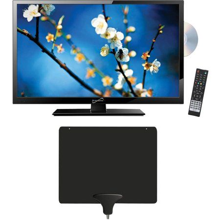 Supersonic 22 Inch Class Full Hd Led Tv Dvd Combination 1080p 60hz Sc 2212 And Mohu Leaf 30 Hdtv Antenna Size 22 Inch Black Walmart Tv Led Tvs