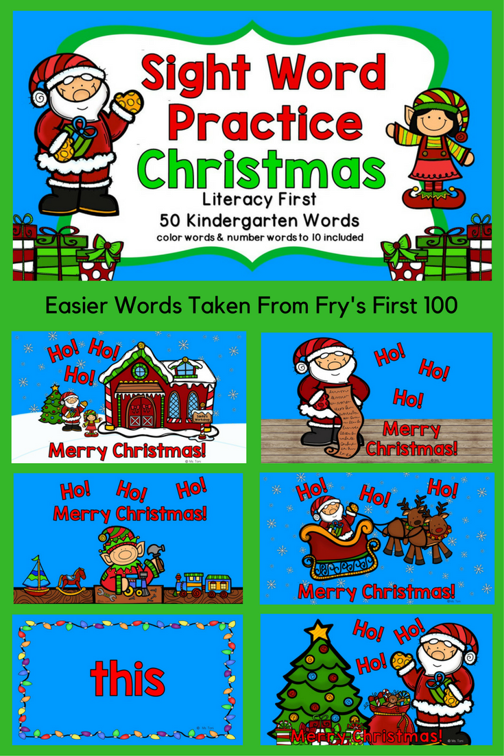 Pin By Brandii Linville On Ed Sight Words Sight Words Kindergarten Holiday Activities Christmas Literacy [ 1102 x 735 Pixel ]