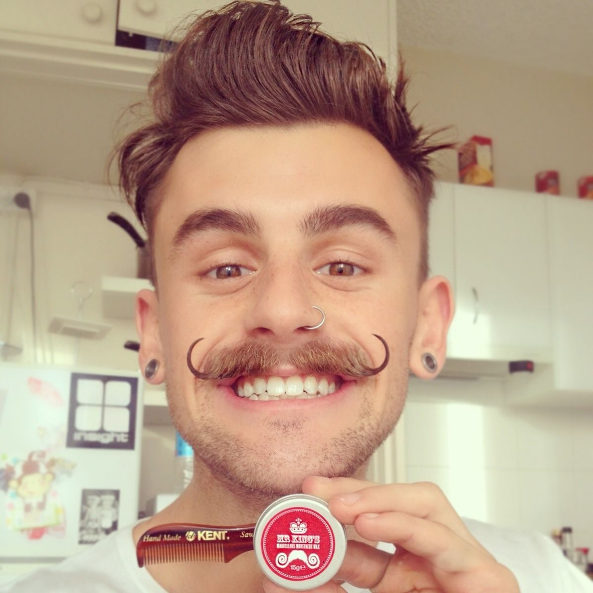 moustache smile