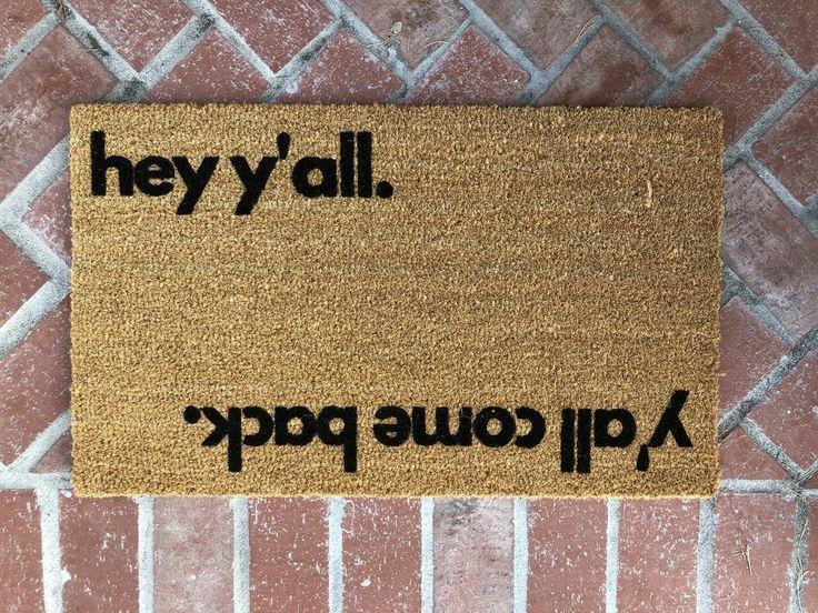 Hey Y All Reversible Outdoor Funny Doormat Funny Welcome Mat