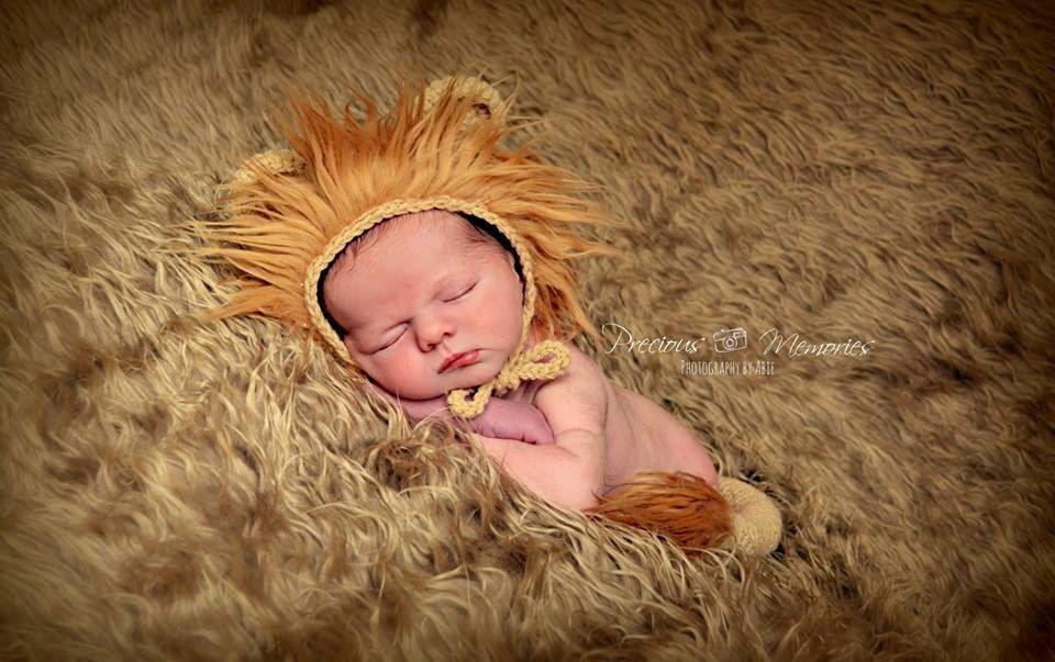 Uk seller newborn lion hat newborn hat newborn lion set photography prop