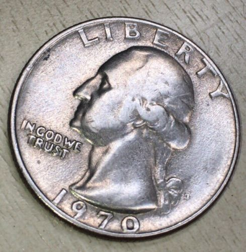 error #errorcoins 1970 D Washington Quarter 25c Error Coin !Rare