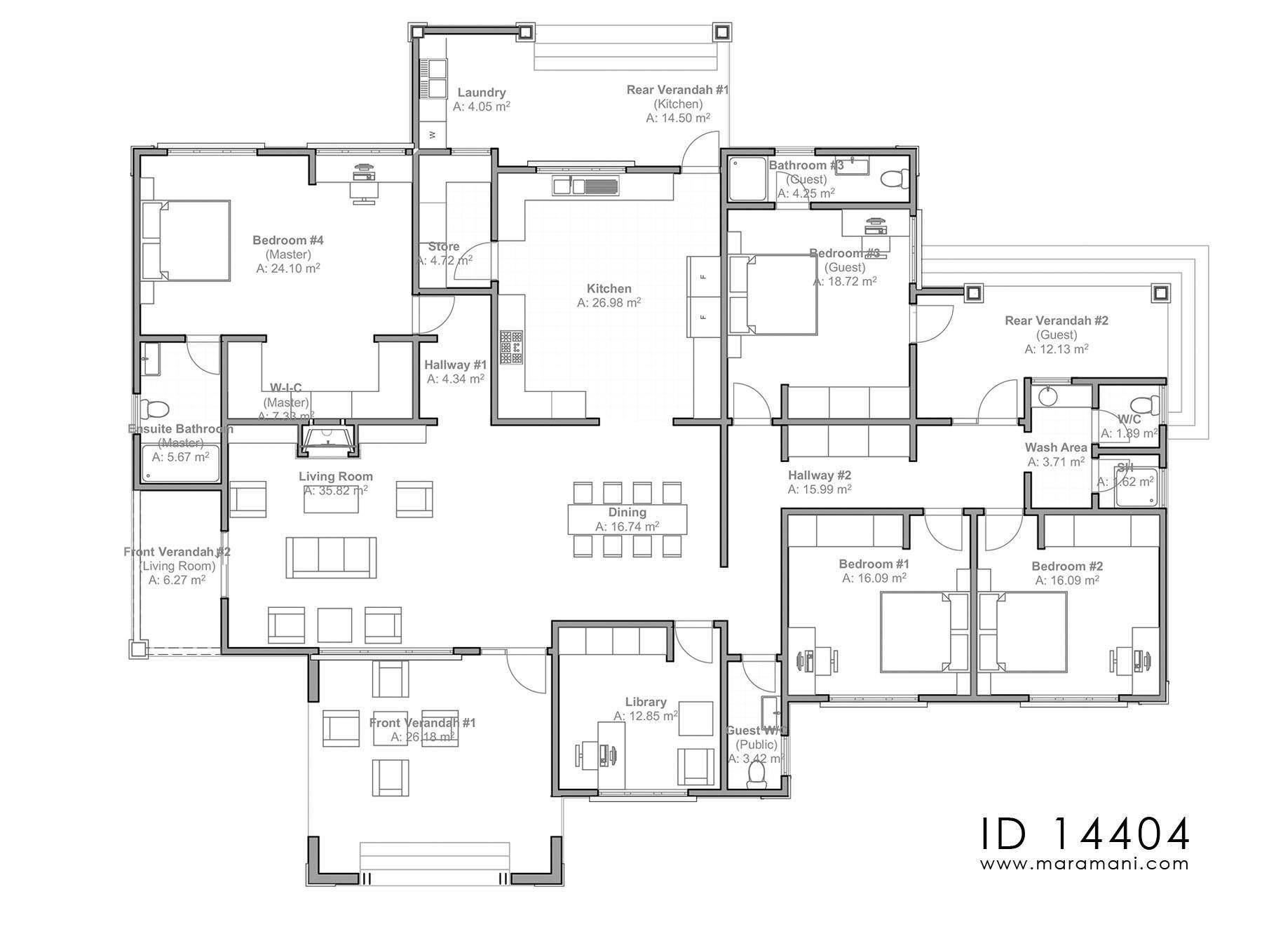 4 Bedroom House Plan Id 14404 House Plans By Maramani 4 Bedroom House Plans 4 Bedroom House House Plans