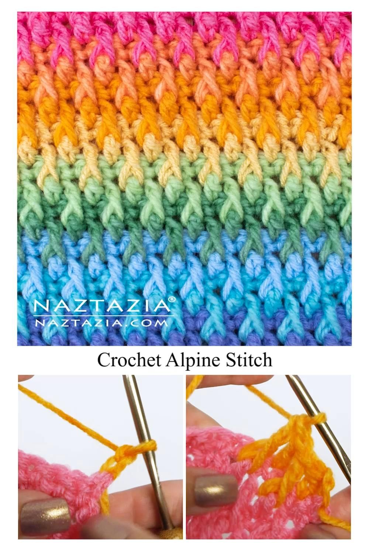 Crochet Alpine Stitch Tutorial by Donna Wolfe from Naztazia