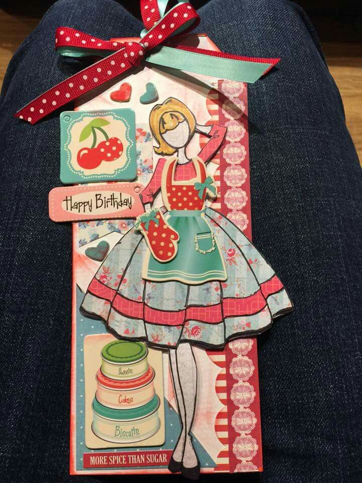 Julie Nutting paper doll tag