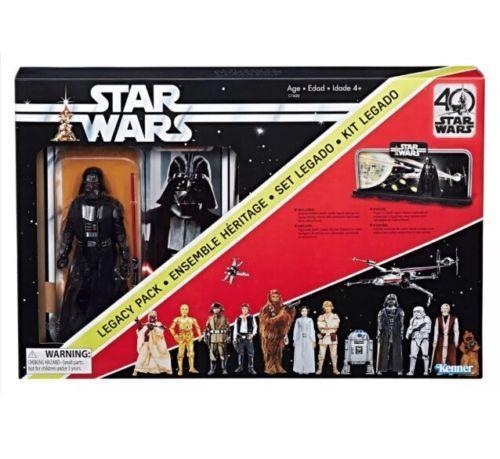 Star Wars Black Series 40th Anniversary Darth Vader Legacy Pack Diorama Ship Now Star Wars Legacy Darth Vader Figure Star Wars Black Series