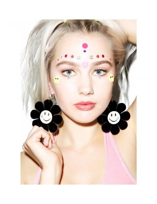 Marina Fini Happy Face Flower Power Earrings | Dolls Kill