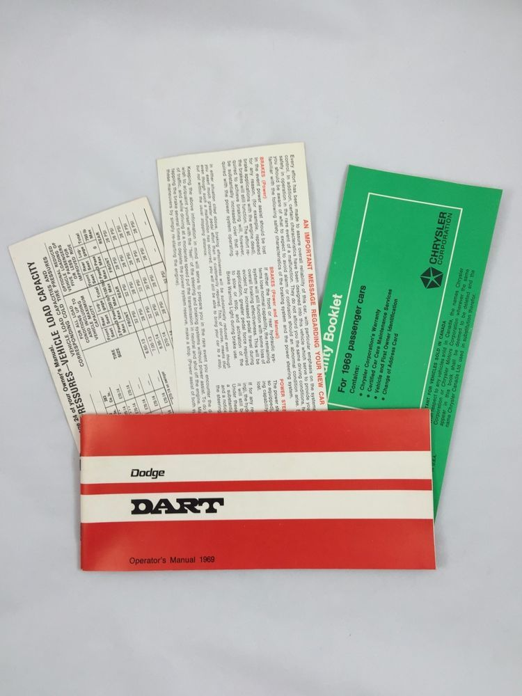 Original 1969 dodge dart owners operators manual 69 near mint original 1969 dodge dart owners operators manual 69 near mint pinterest darts and cars publicscrutiny Choice Image