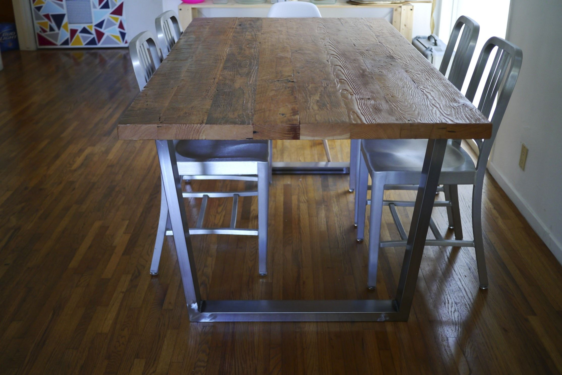 sheet metal top dining table Google Search