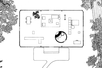 floor plan the largest rectangle is all glass walls the circle is the sole - Cylinder Home Floor Plans