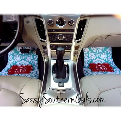 Car mats monogrammed / personalized car mats | This Is So Cool ...