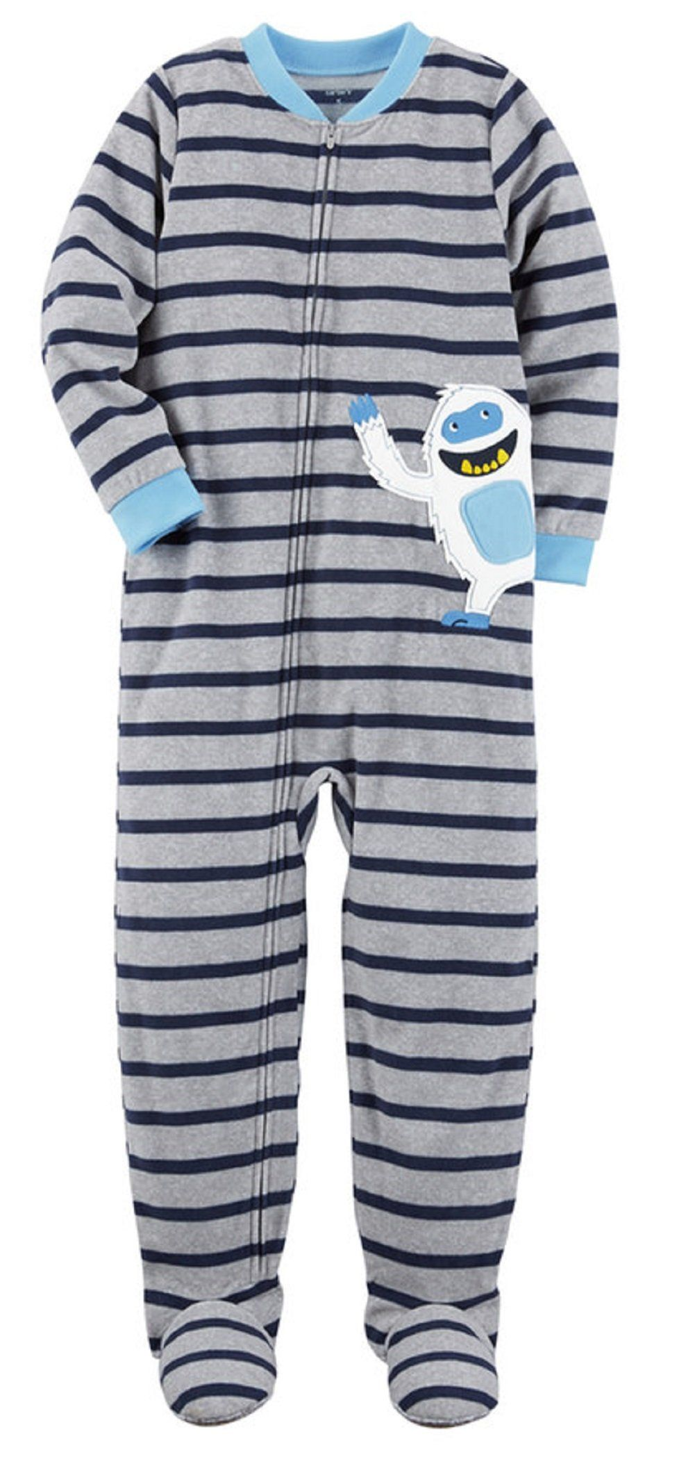 703bbe4c6286 Carters Bigboys 1 Pc Micro Fleece Footed Blanket Sleeper 7 Snowman ...