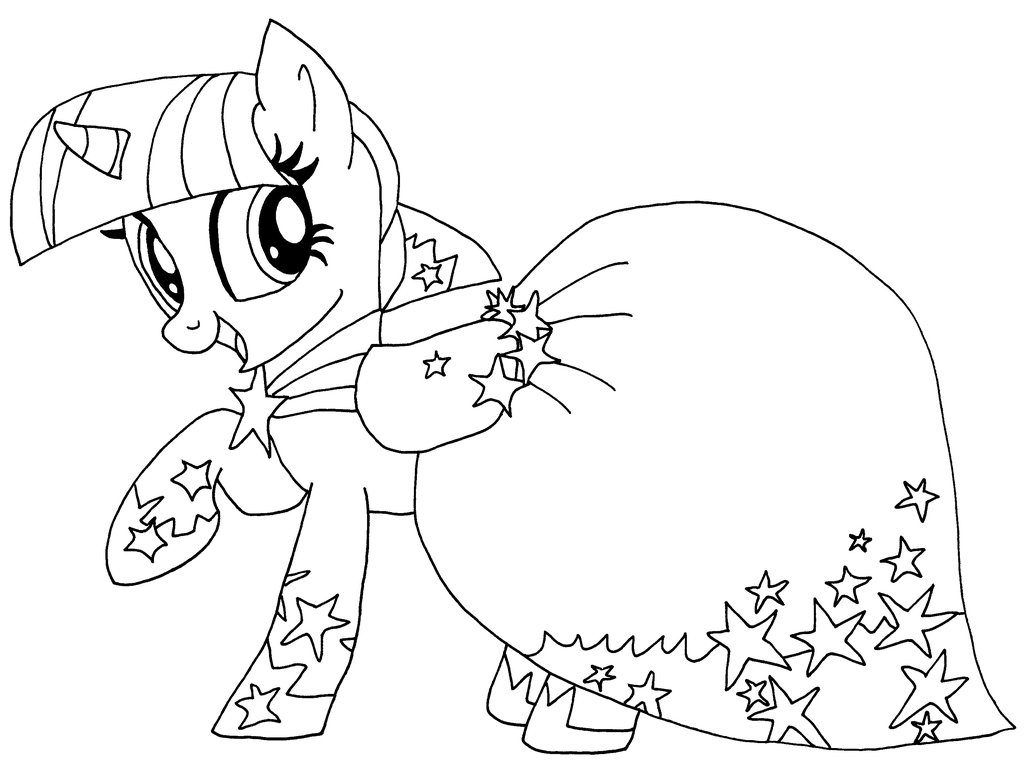 Filly Twilight Sparkle My Little Pony Coloring Pages ...
