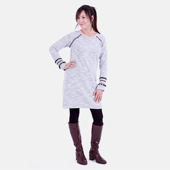 Kleid Strickstoff Anleitung Schnittmuster Bohostyle