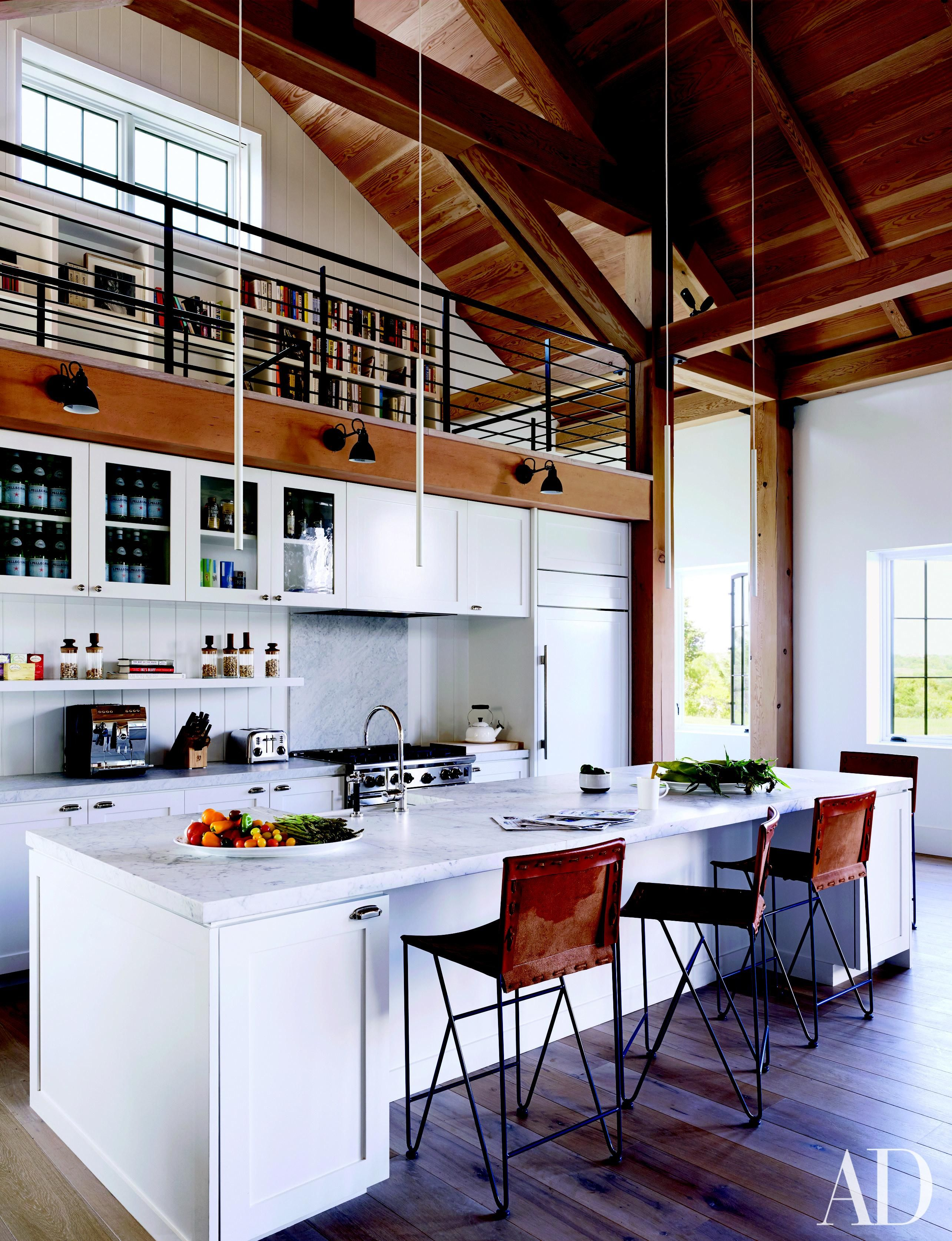 Get The Look Of This Modern Beach House Kitchen By Ashe Leandro Beach House Kitchens Interior Design Kitchen Home Kitchens