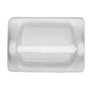 Daltile Bath Accessories Toilet Paper Holder White Glazed Ceramic