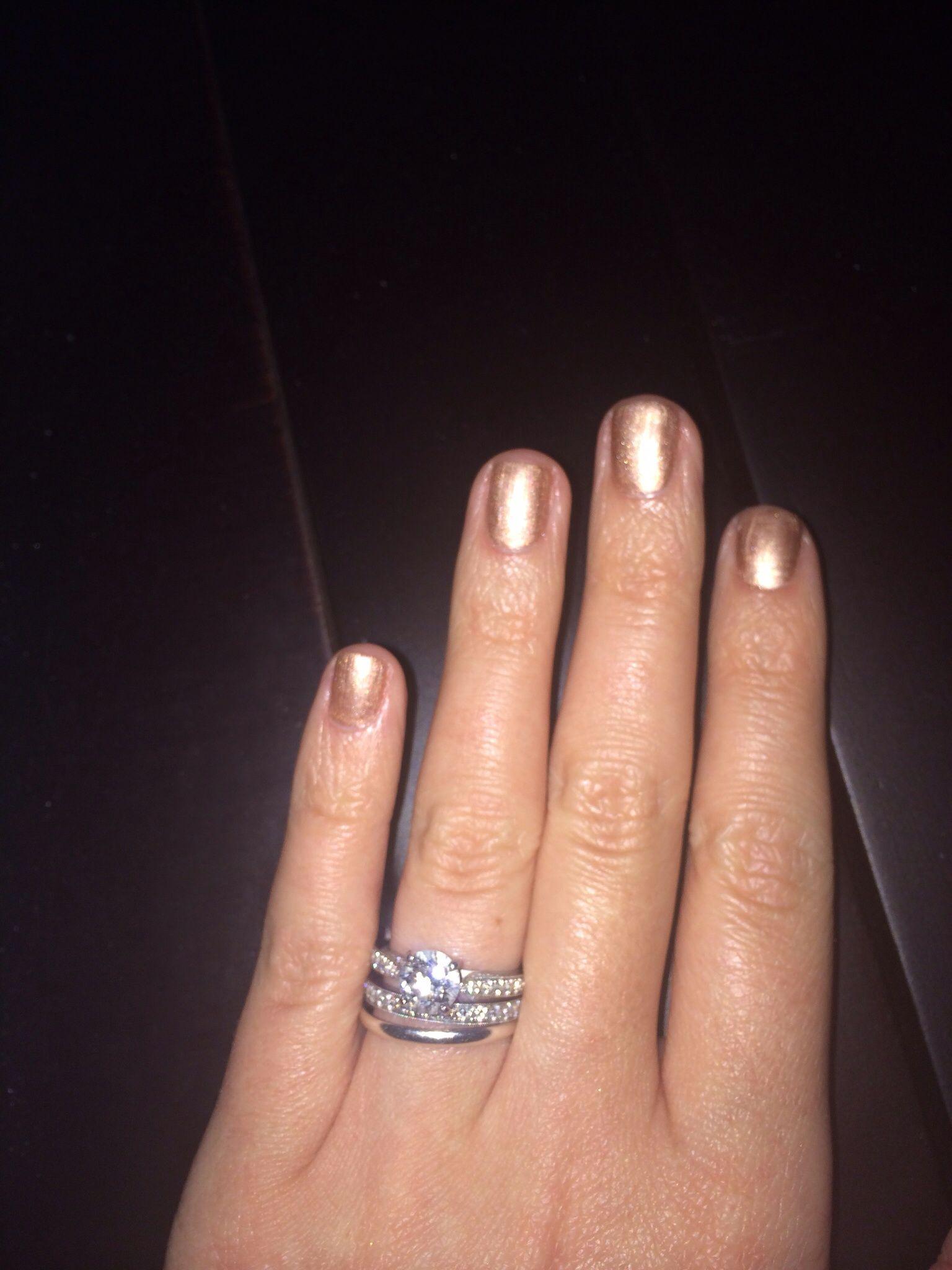 Gold Gel Manicure Jewish Wedding Rings Plain Bands Gel Manicure