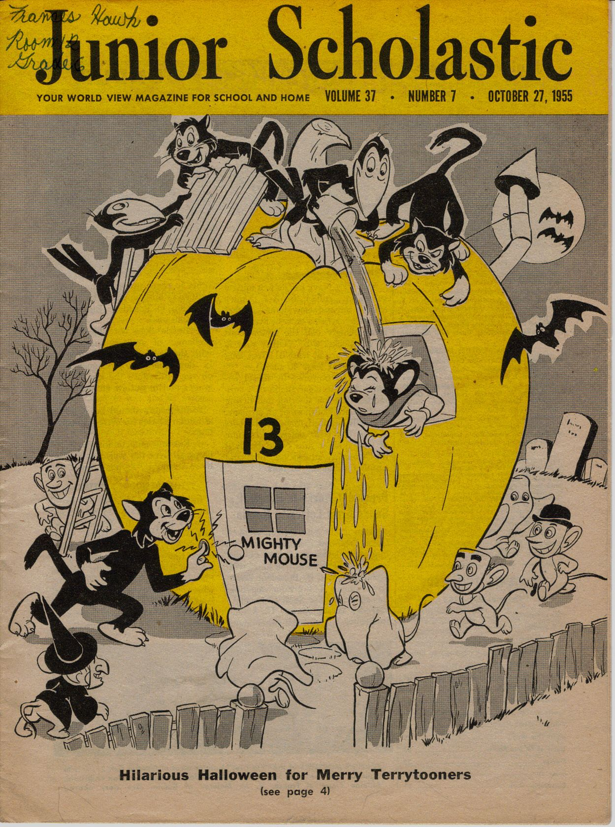 the halloween issue of junior scholastic from 1955 - Halloween Magazines