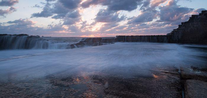 режимный свет, пейзаж, природа, туман, вода, композиция, панорама