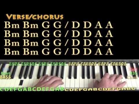 Despacito Luis Fonsi Piano Lesson Chord Chart Bm G D A Youtube