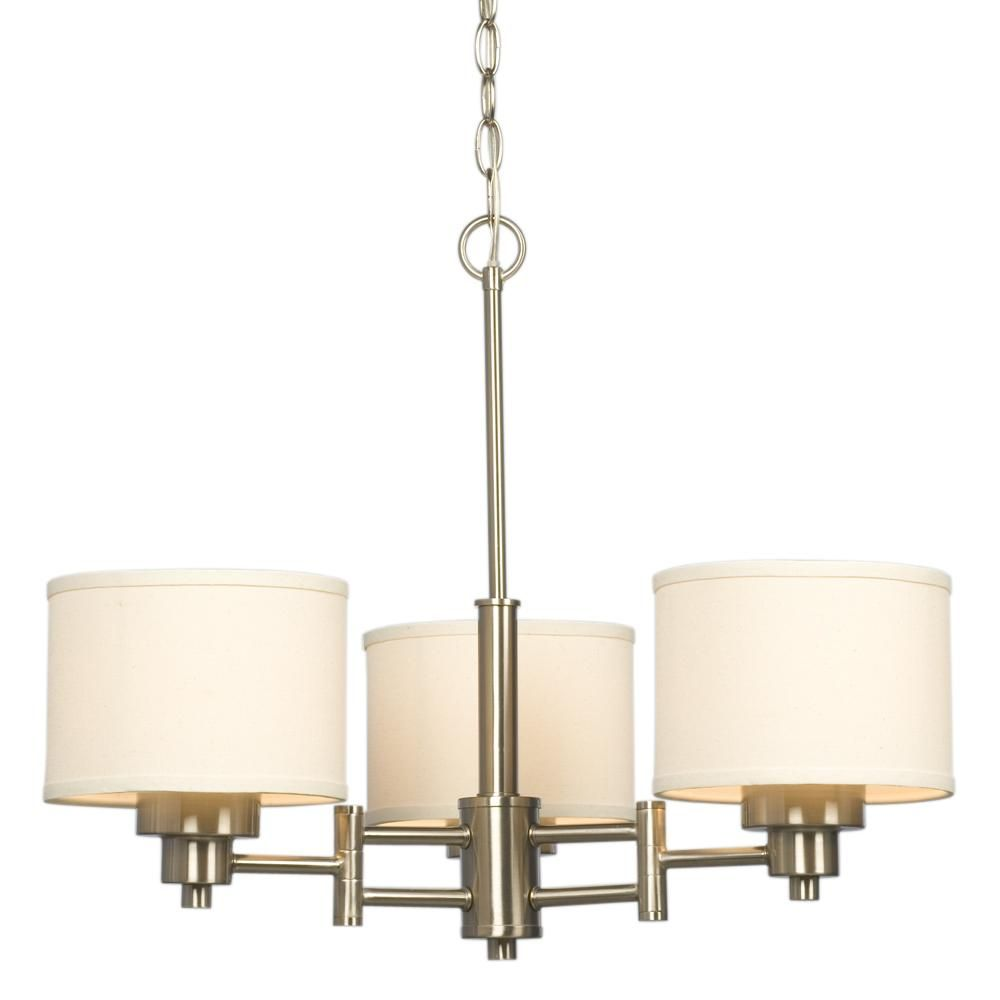 Lux kitchen bath lighting grande prairie ab ca brushed nickel chandelier 3 light