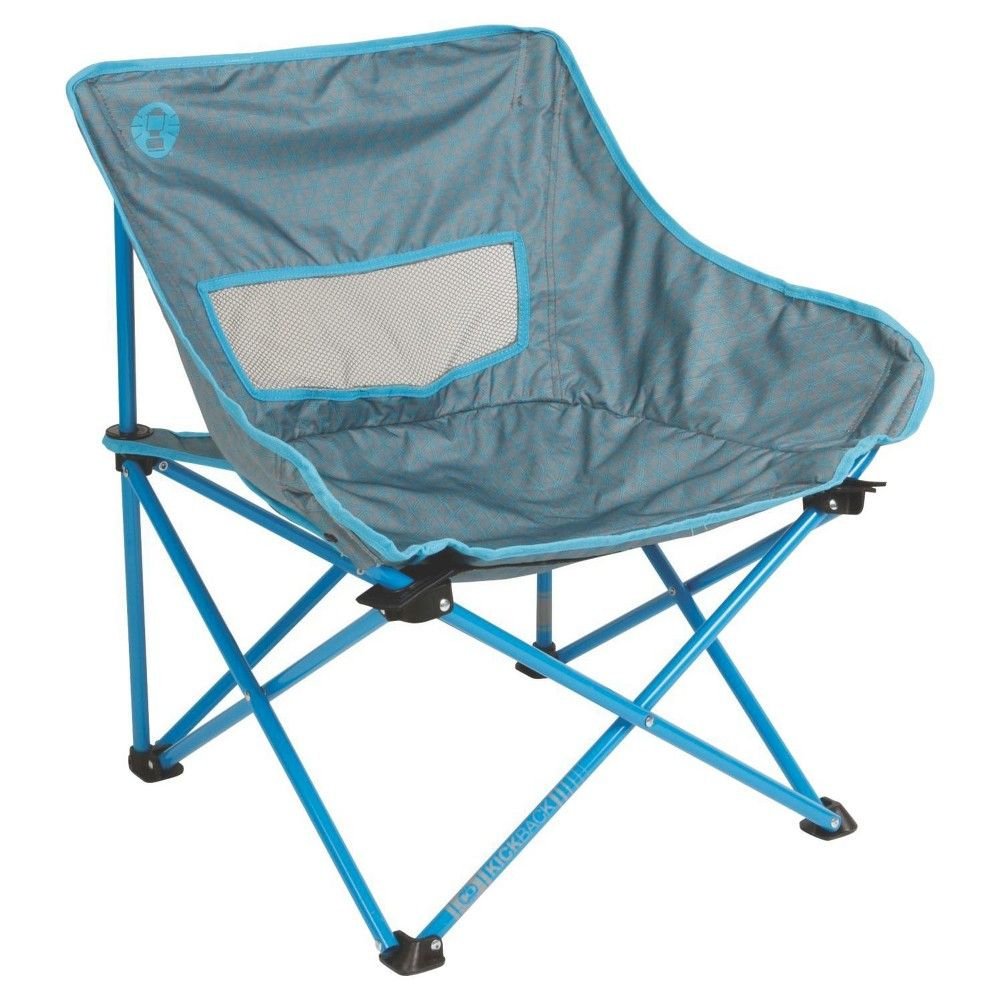 Coleman Kickback Breeze Chair Blue Green Folding Chair