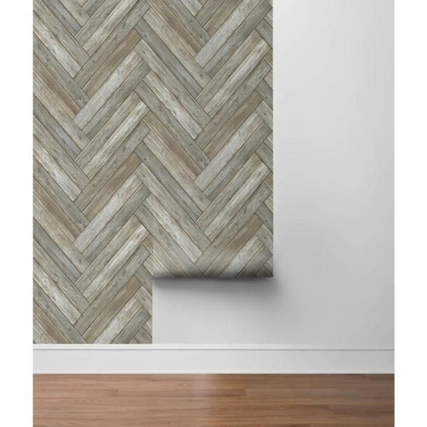 Nextwall Chevron Wood Vinyl Strippable Roll Covers 30 75 Sq Ft Nw33308 The Home Depot Peel And Stick Wallpaper Wood Vinyl Removable Wallpaper For Renters