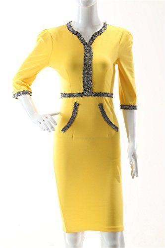 f3f94a04bf4 JOTHIN Femme Bodycon Robe de Soirée Manche Courte Uni Robe Peplum V-Cou Robe  Crayon