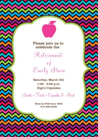 teacher retirement invitations