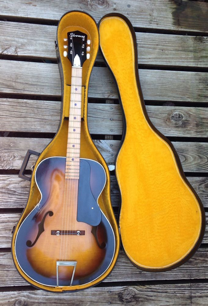 Vintage Acoustic Archtop Guitar With Hard Case  #Kay