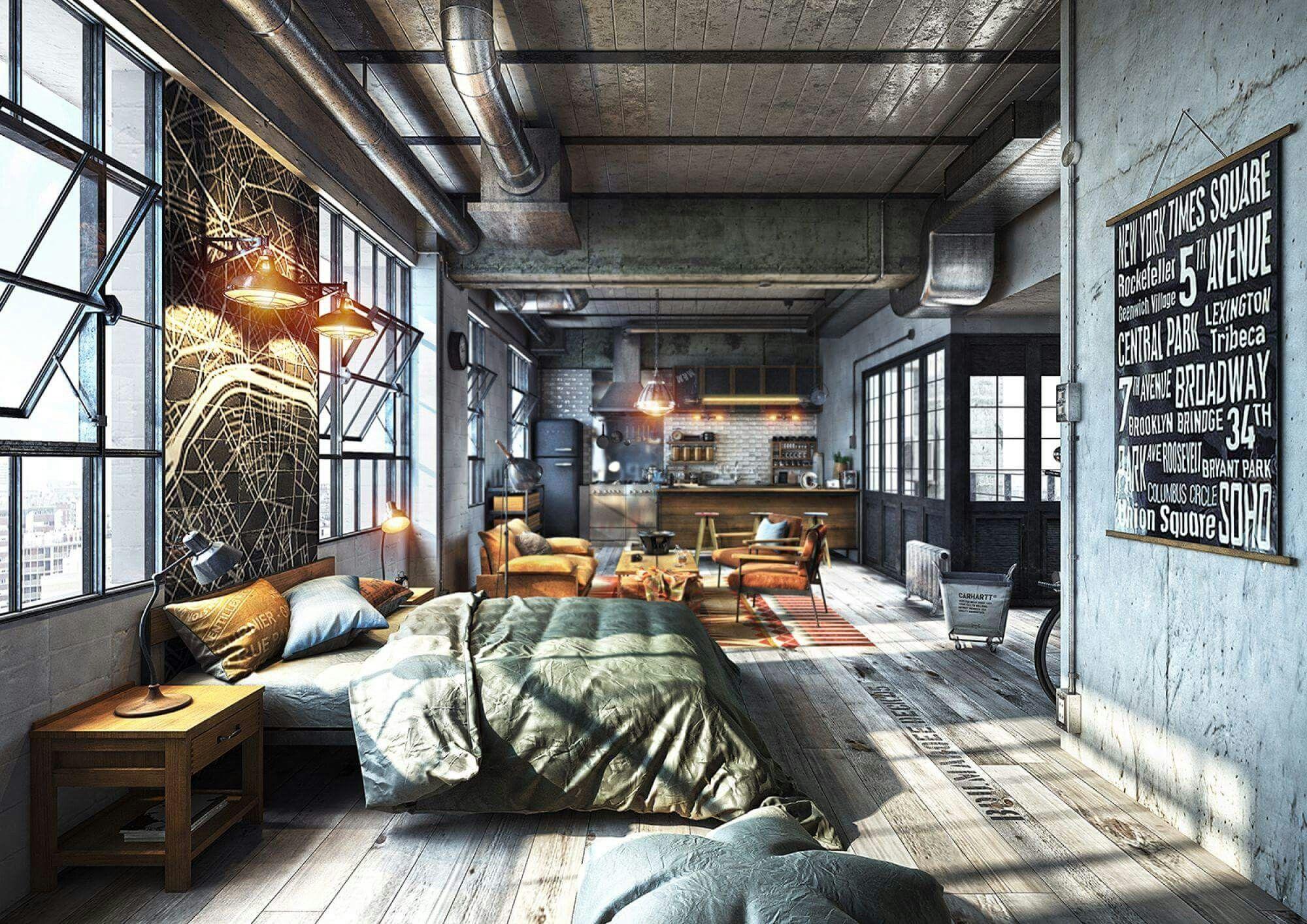 The windowed room design  Loft  Hem inredning Hus Industriell
