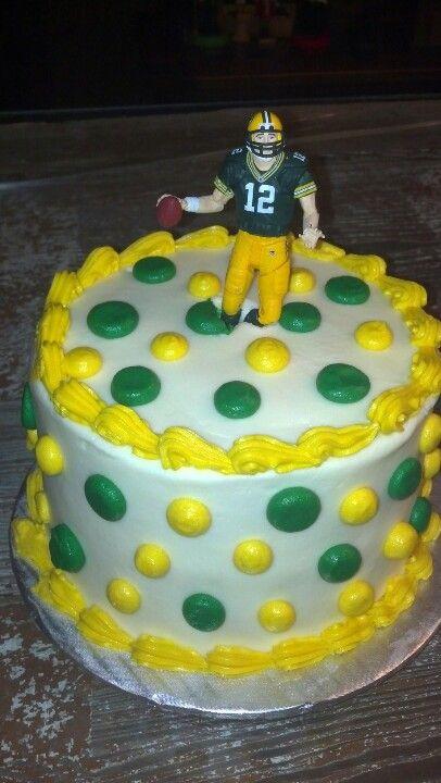 Tremendous My Greenbay Packers Birthday Cake Aaronrodgers Packers Cake Personalised Birthday Cards Veneteletsinfo