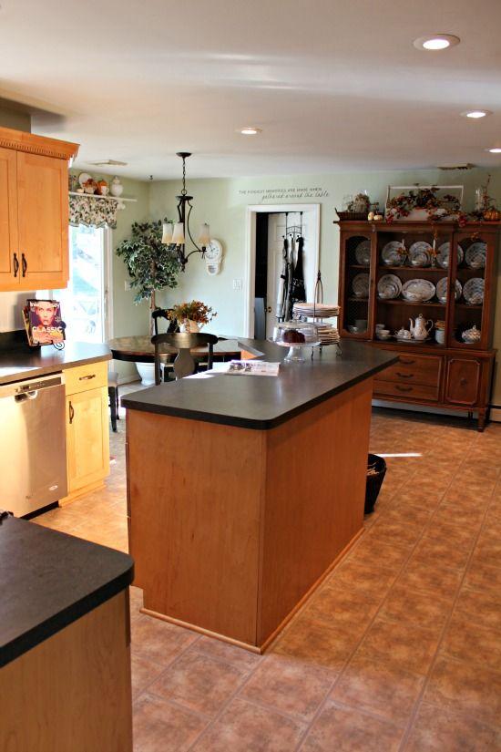 Kitchen Inspiration ~ Gray Paint Color with Honey Oak ...