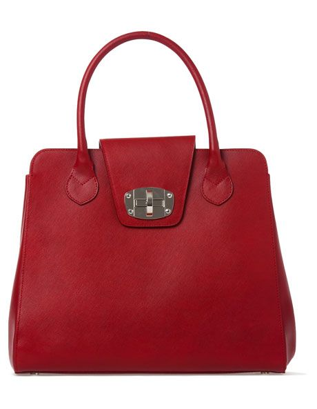 Innovare Made In Italy North South Leather Tote Red 7495m Myer Online